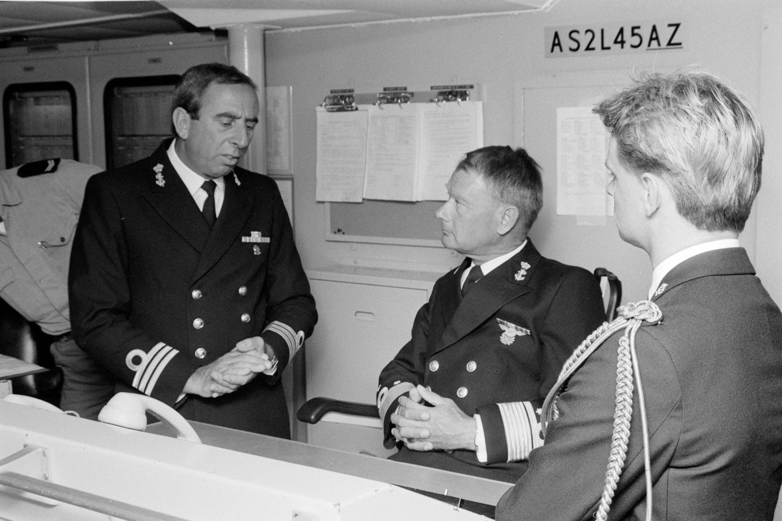 Co van der Aa - als commandant bij de marine